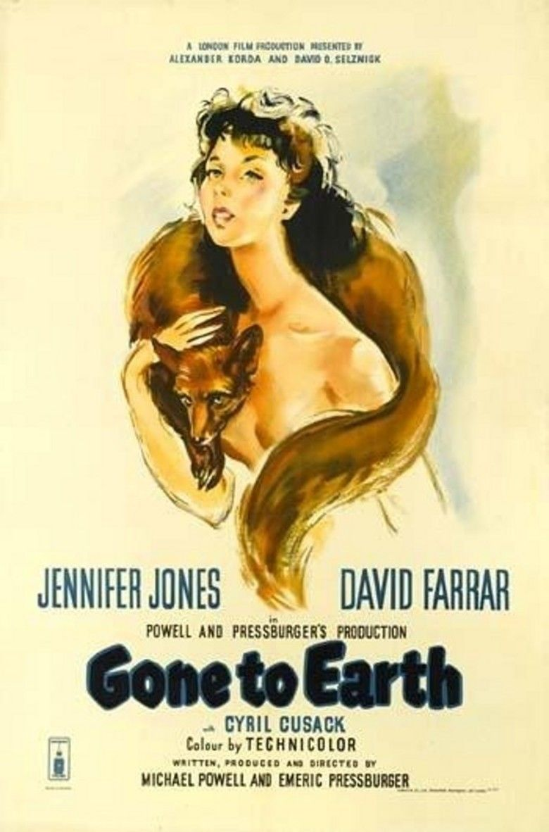 Gone to Earth (film) movie poster