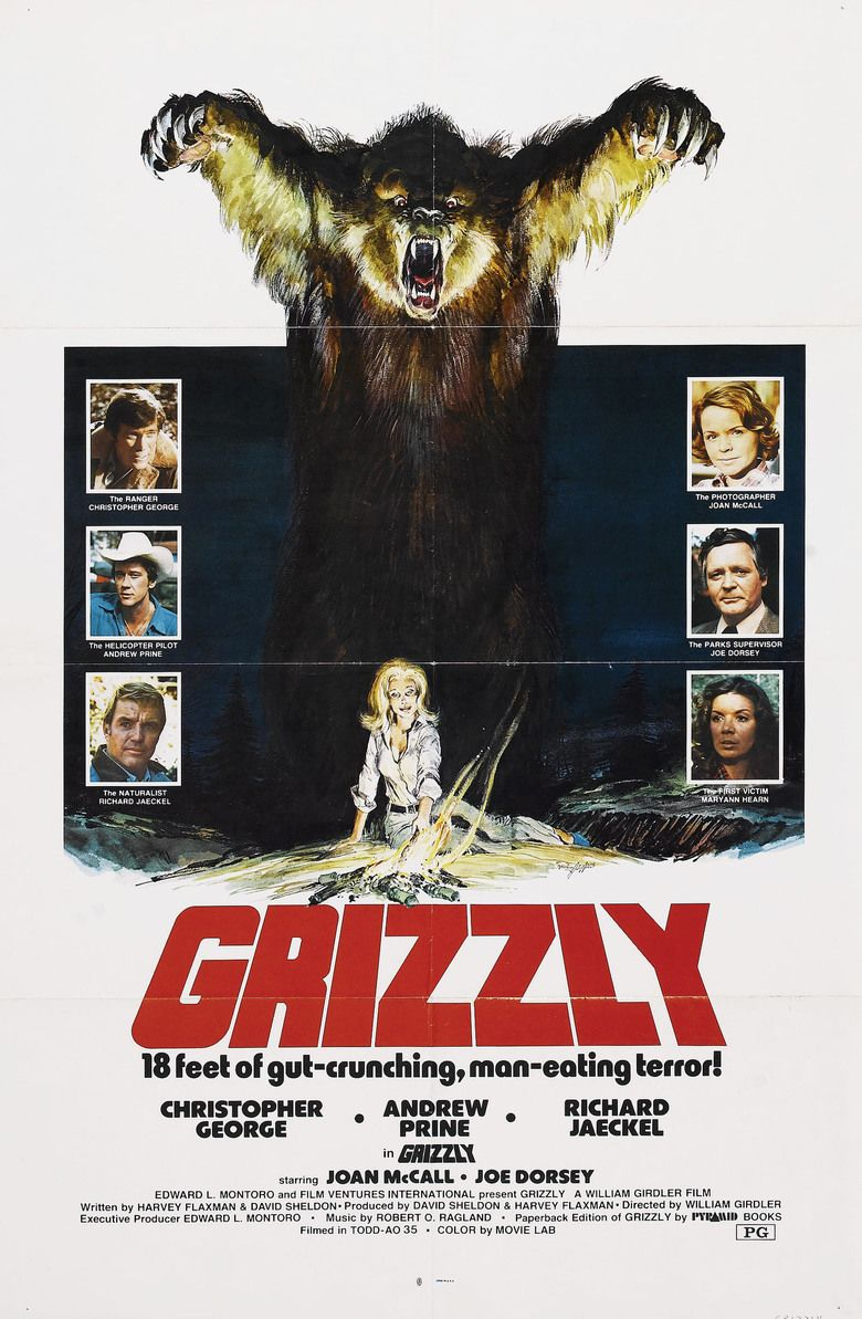 Grizzly (1976 film) movie poster