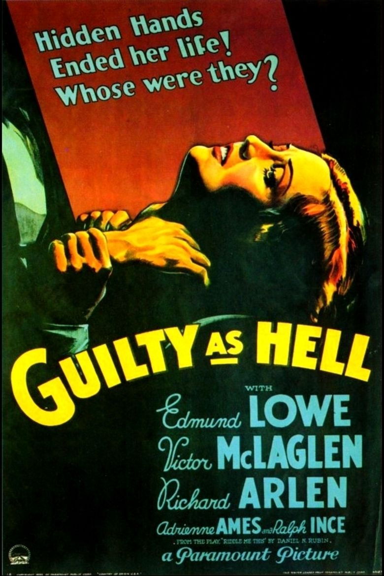 Guilty as Hell movie poster