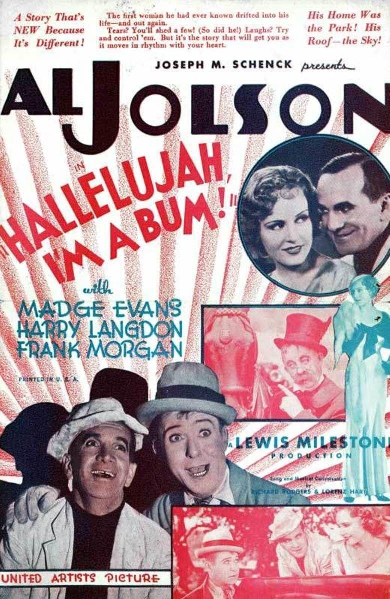 Hallelujah, Im a Bum (film) movie poster
