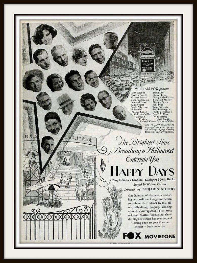 Happy Days (1929 film) movie poster