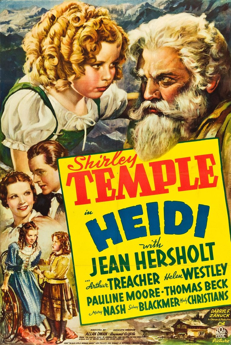 Heidi (1937 film) movie poster