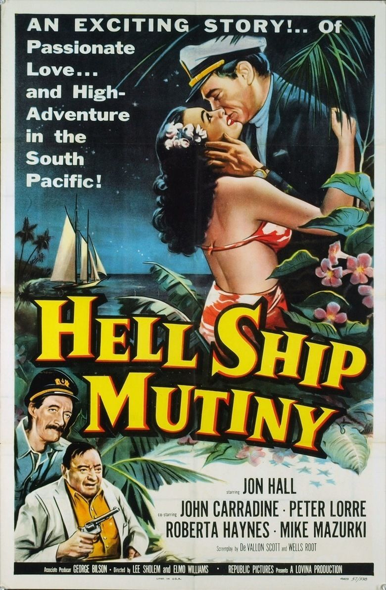 Hell Ship Mutiny movie poster