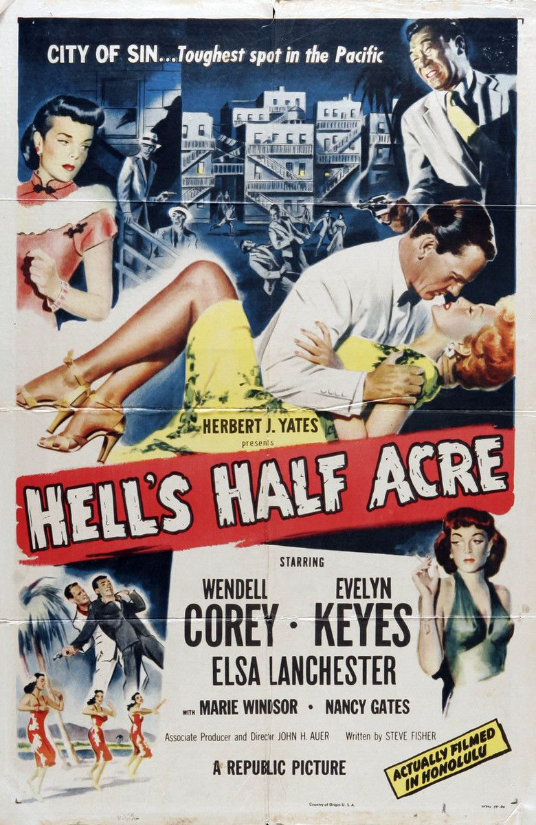 Hells Half Acre (1954 film) movie poster