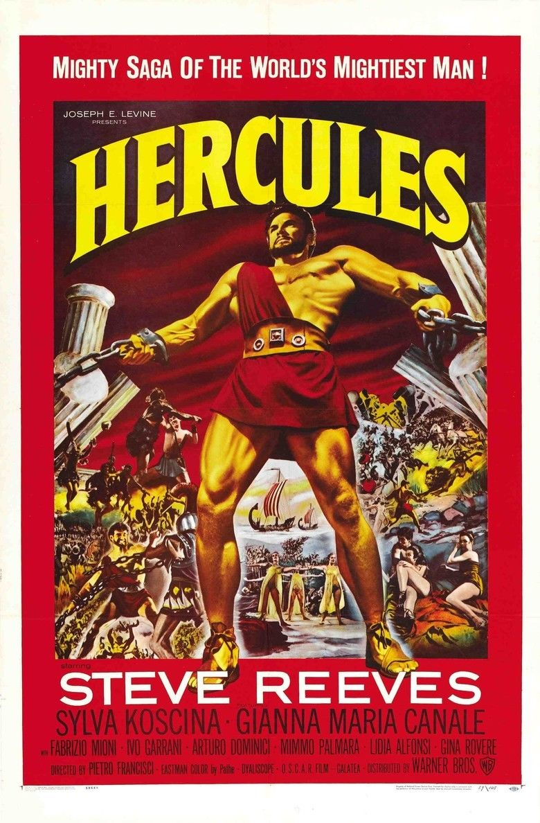 Hercules (1958 film) movie poster