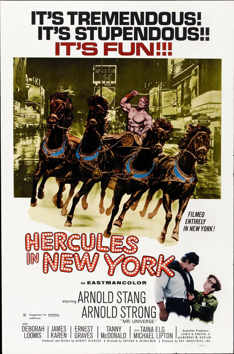 Hercules in New York movie poster