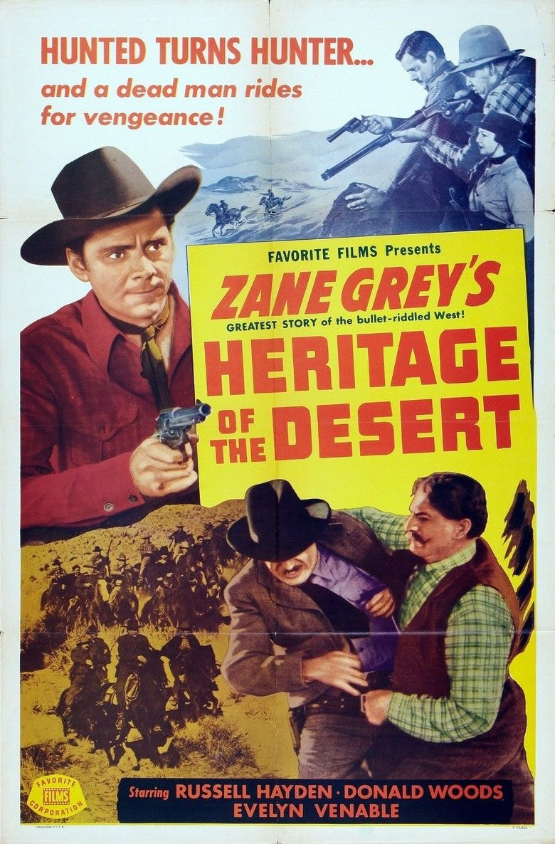Heritage of the Desert (1939 film) movie poster