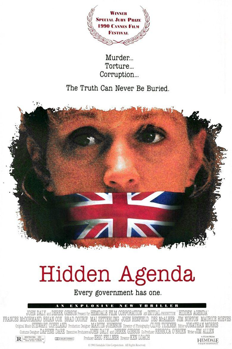 Hidden Agenda (1990 film) movie poster