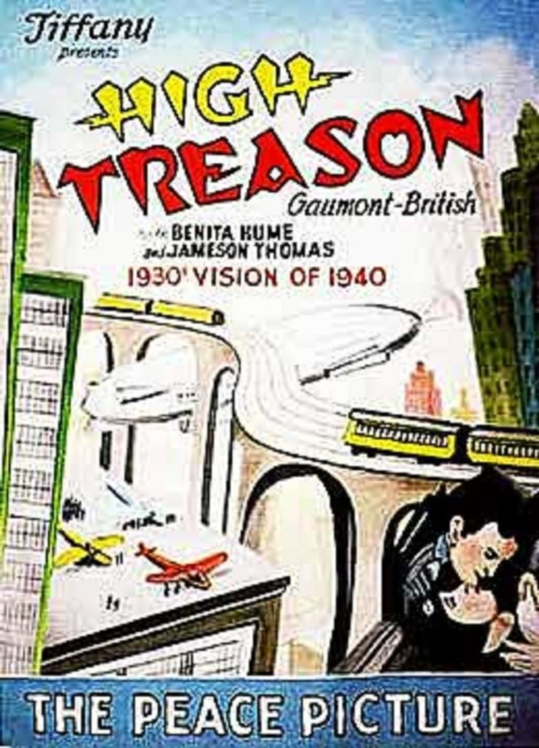 High Treason (1929 film) movie poster