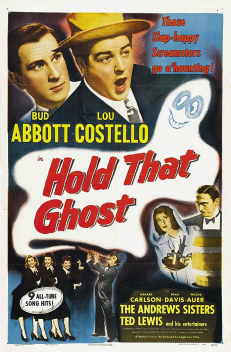 Hold That Ghost movie poster