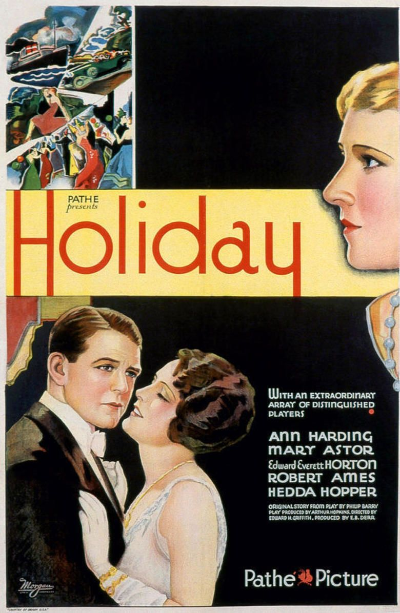 Holiday (1930 film) movie poster