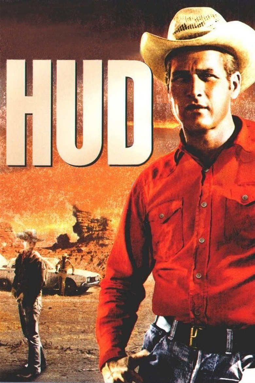 Hud (film) movie poster