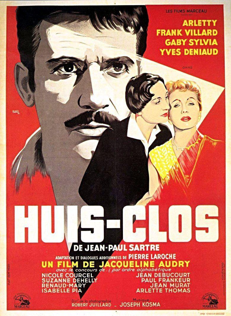 Huis clos (1954 film) movie poster