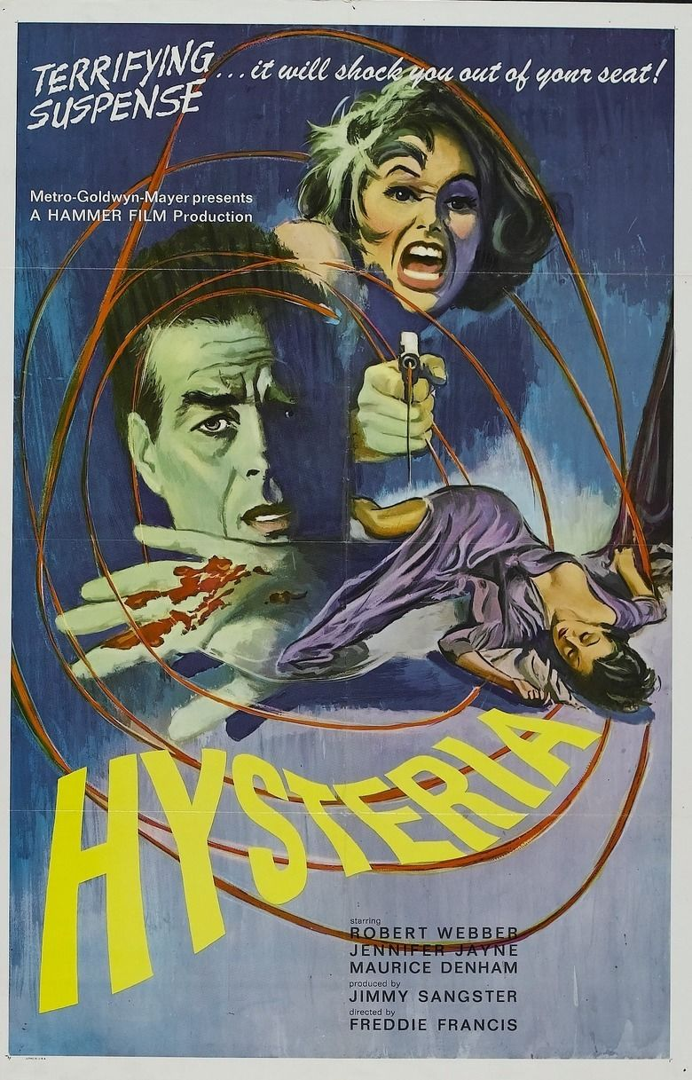 Hysteria (1965 film) movie poster