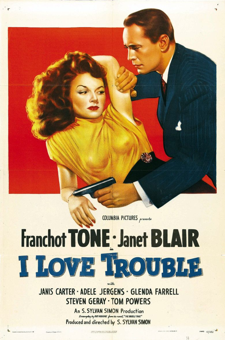 I Love Trouble (1948 film) movie poster