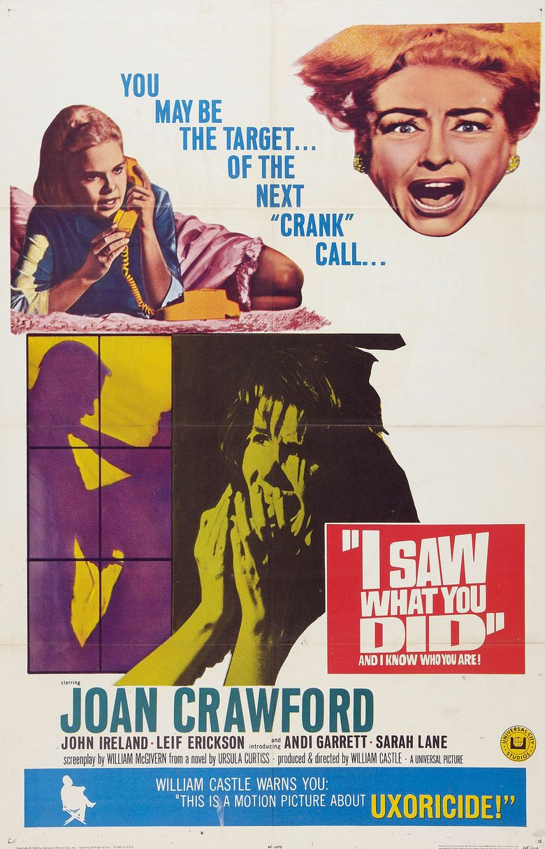 I Saw What You Did movie poster