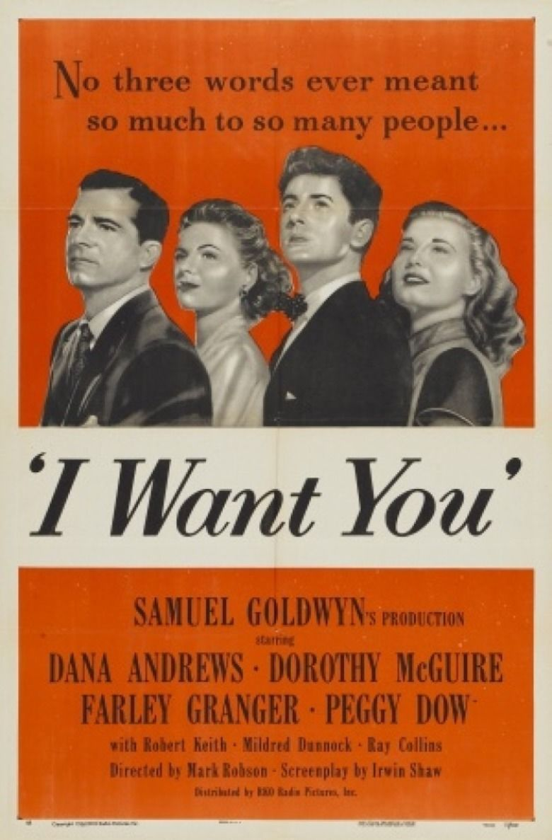 I Want You (1951 film) movie poster