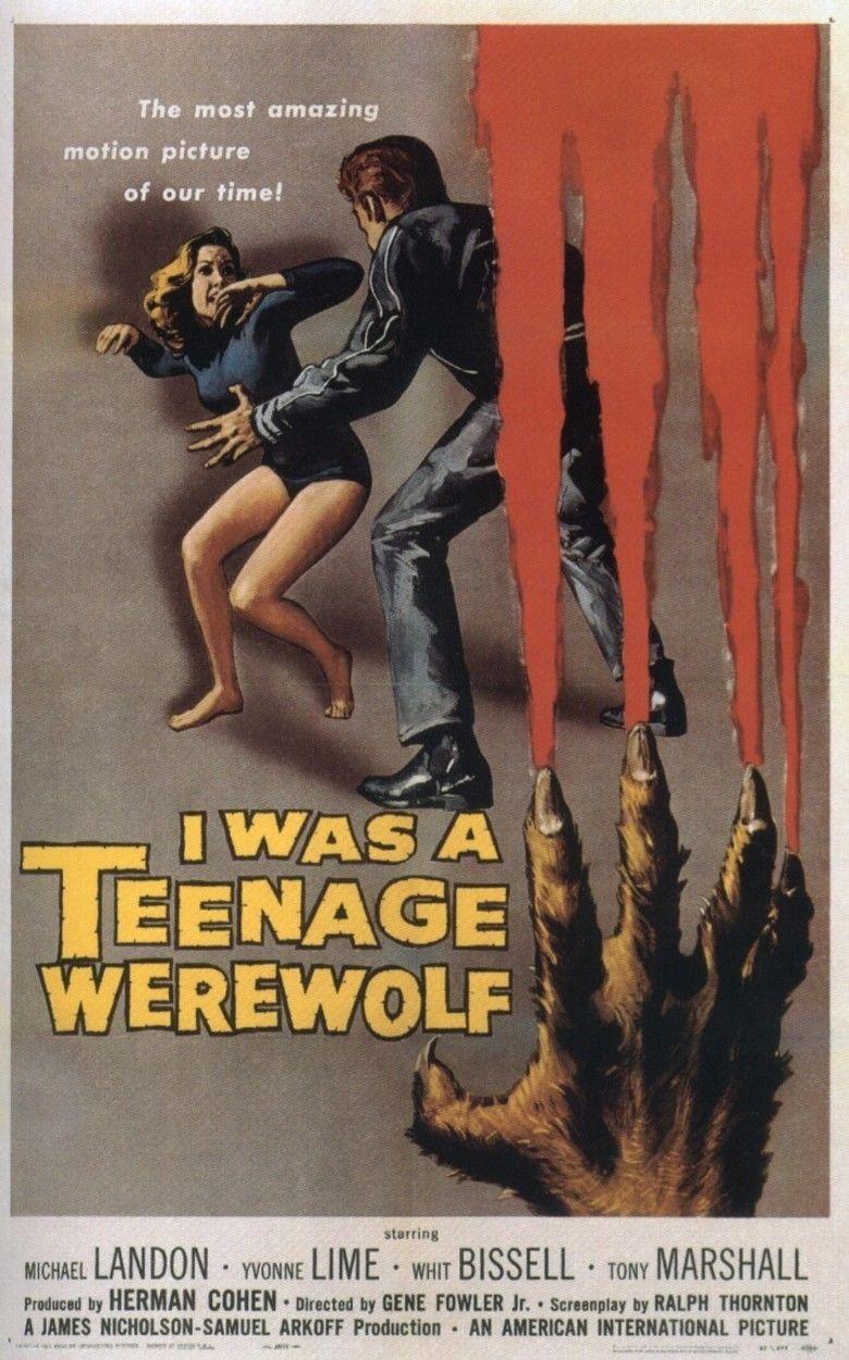 I Was a Teenage Werewolf movie poster