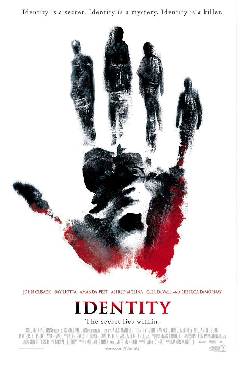 Identity (film) movie poster