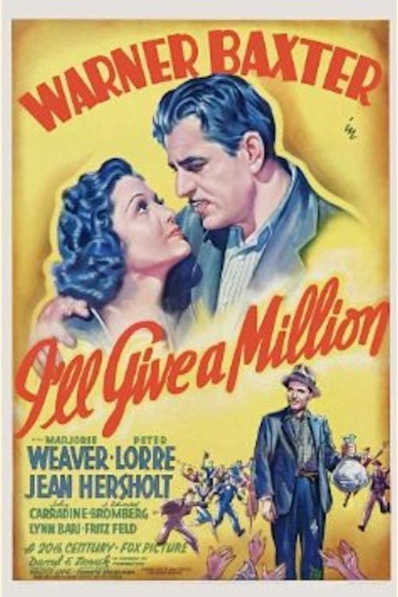 Ill Give a Million (1938 film) movie poster