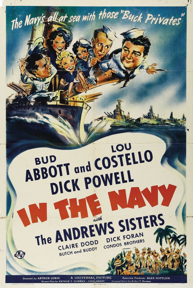 In the Navy (film) movie poster