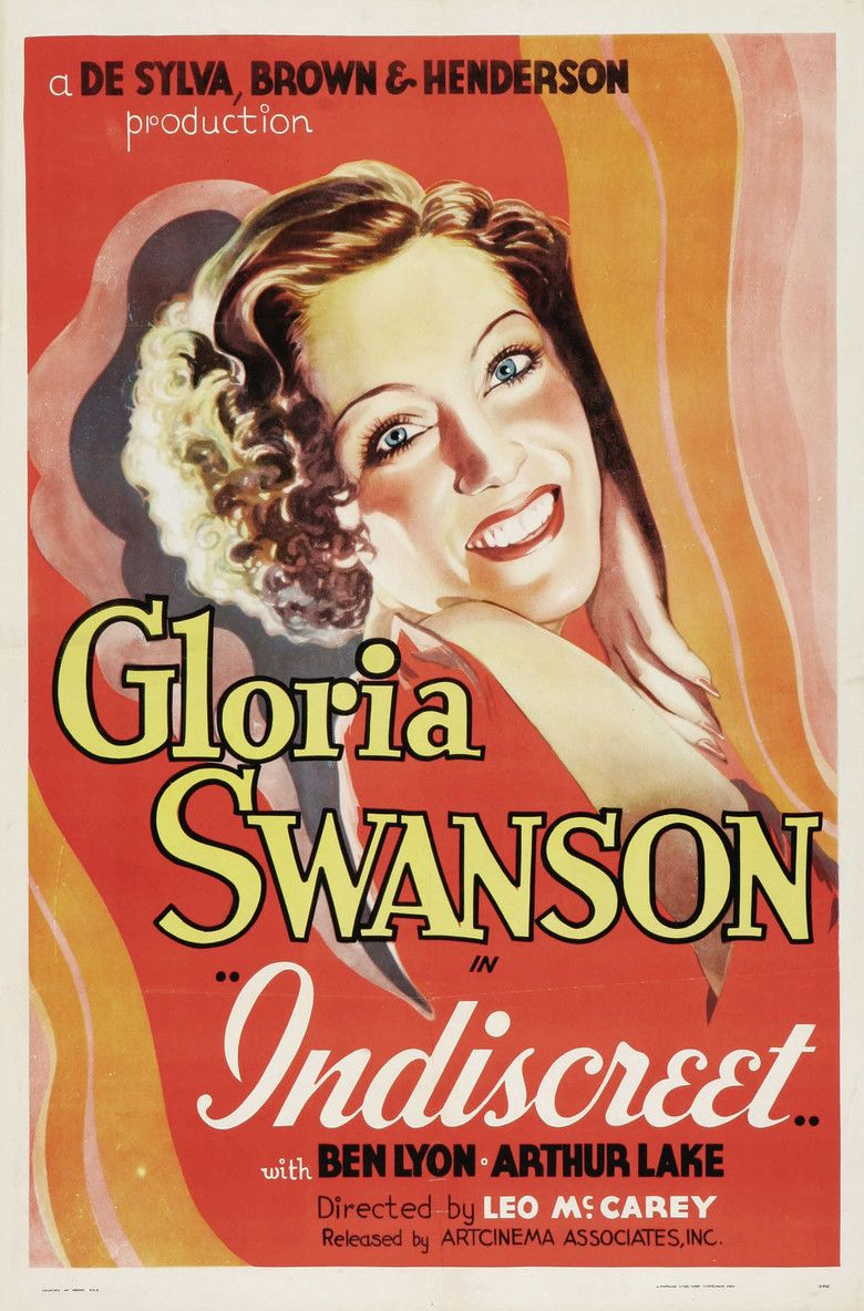 Indiscreet (1931 film) movie poster