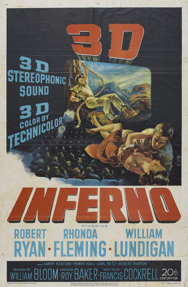Inferno (1953 film) movie poster