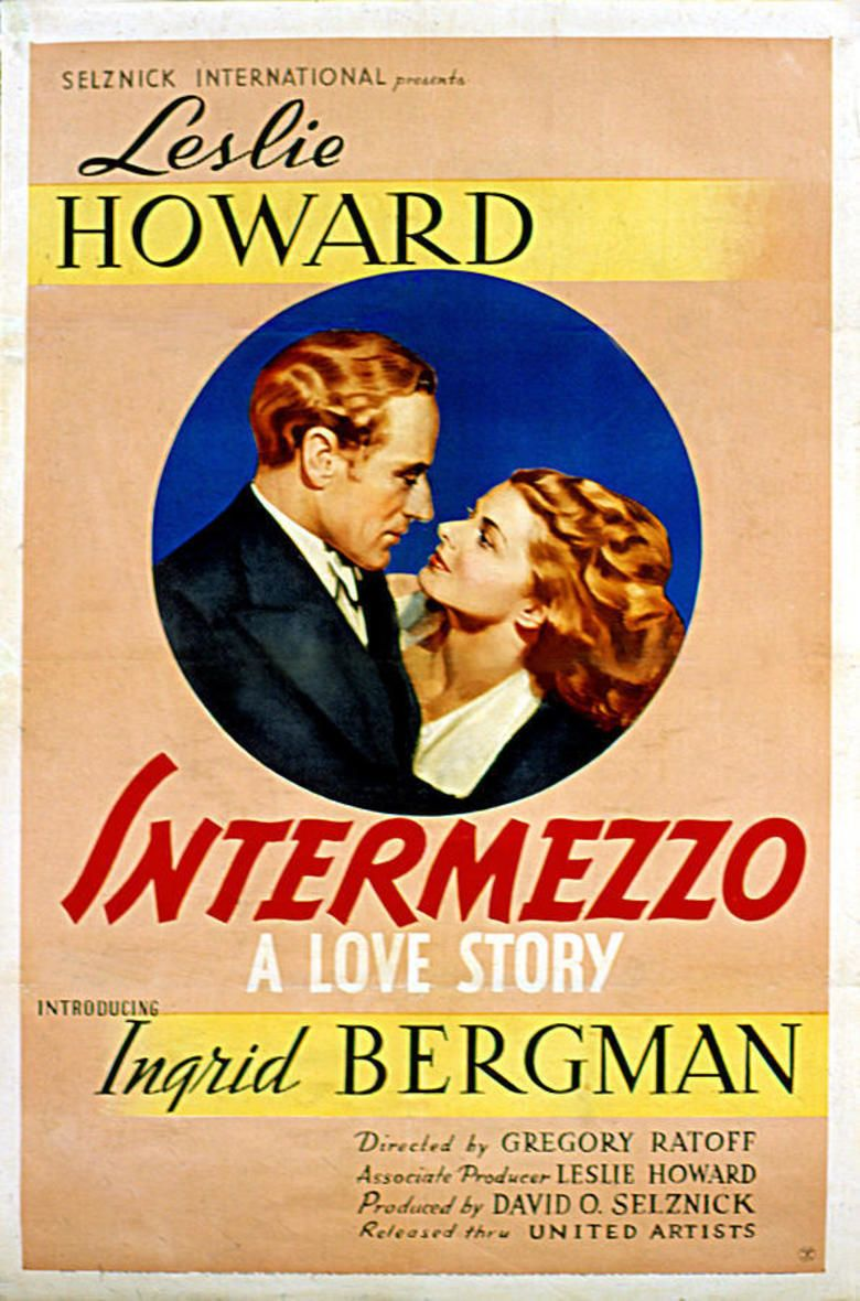 Intermezzo (1939 film) movie poster