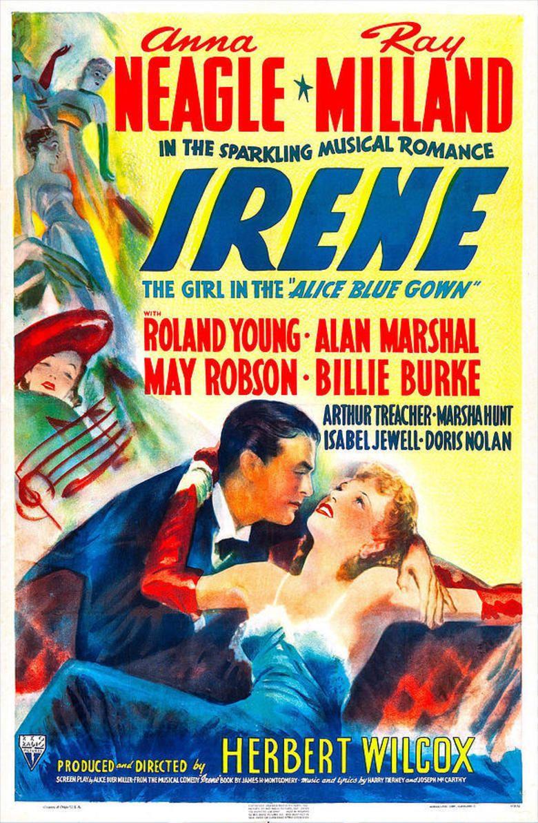 Irene (1940 film) movie poster