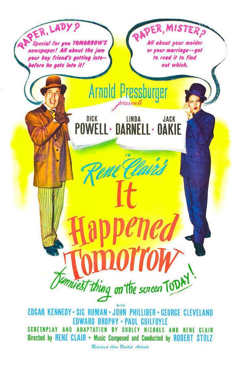 It Happened Tomorrow movie poster