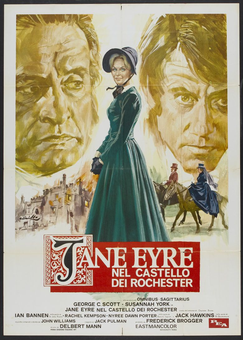 Jane Eyre (1970 film) movie poster