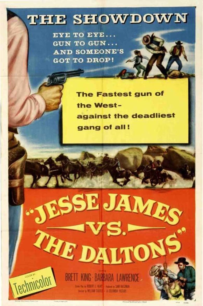 Jesse James vs the Daltons movie poster