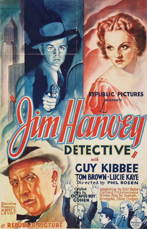 Jim Hanvey, Detective movie poster