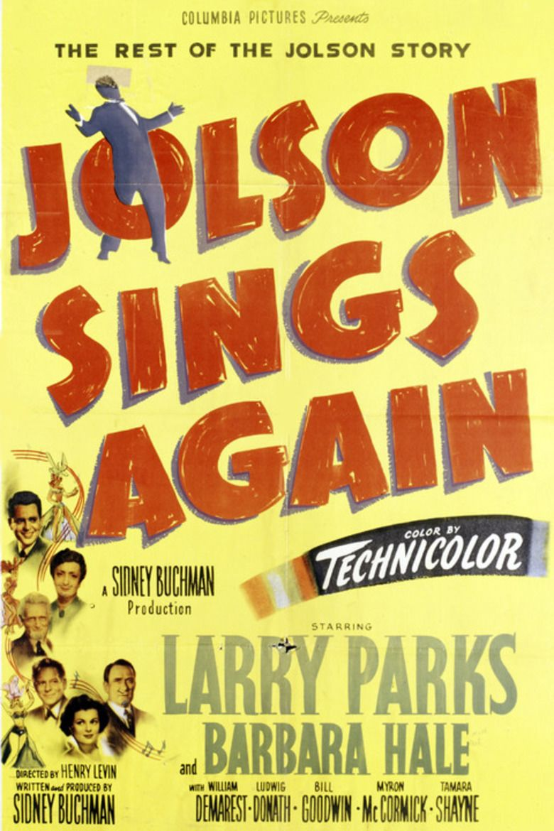 Jolson Sings Again movie poster