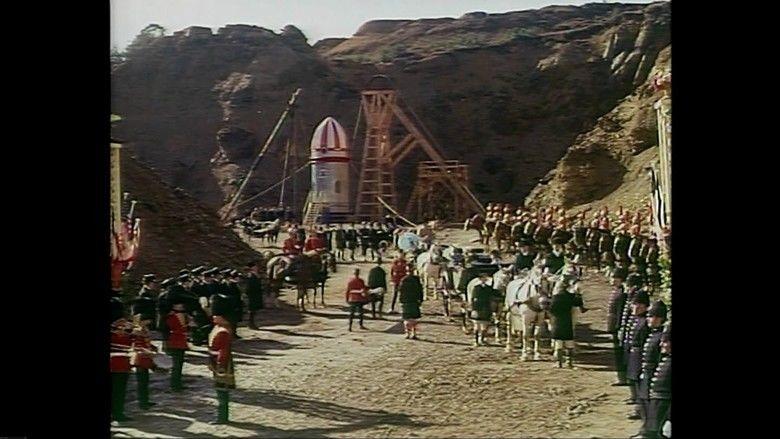 Jules Vernes Rocket to the Moon movie scenes