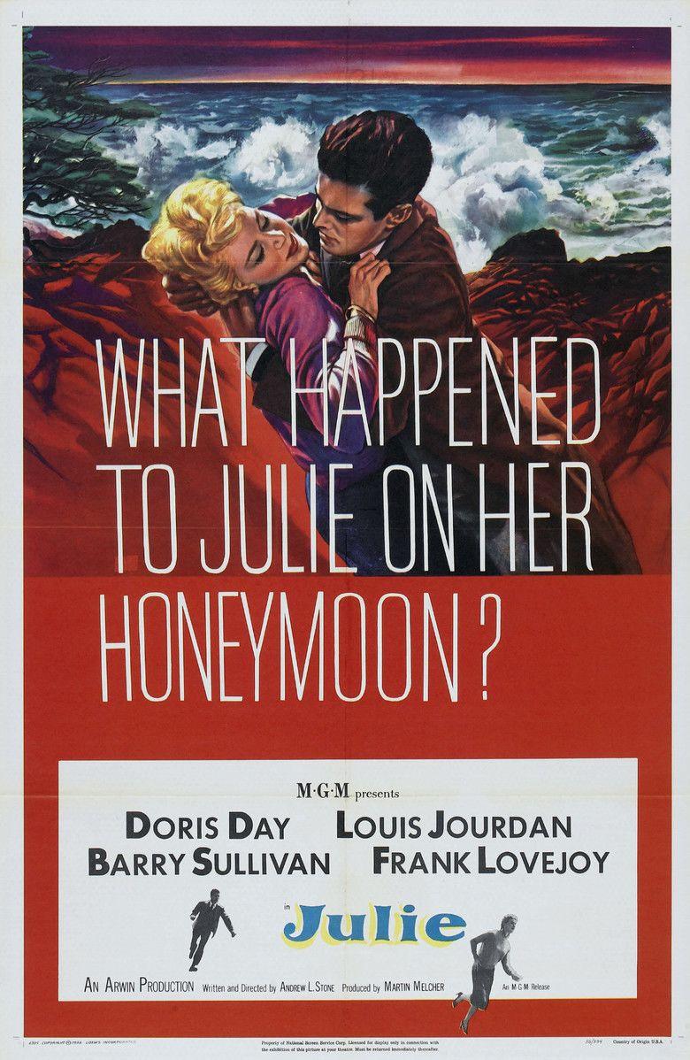 Julie (1956 film) movie poster