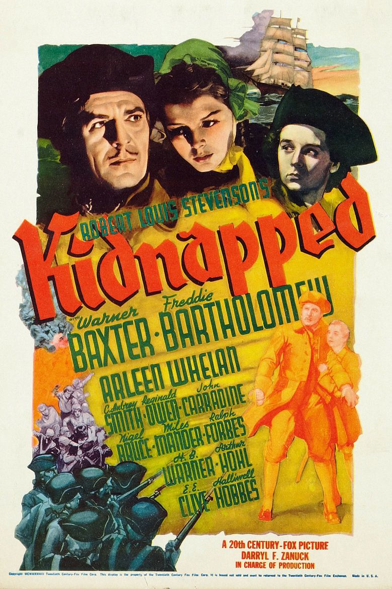 Kidnapped (1938 film) movie poster