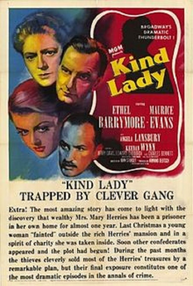 Kind Lady (1951 film) movie poster