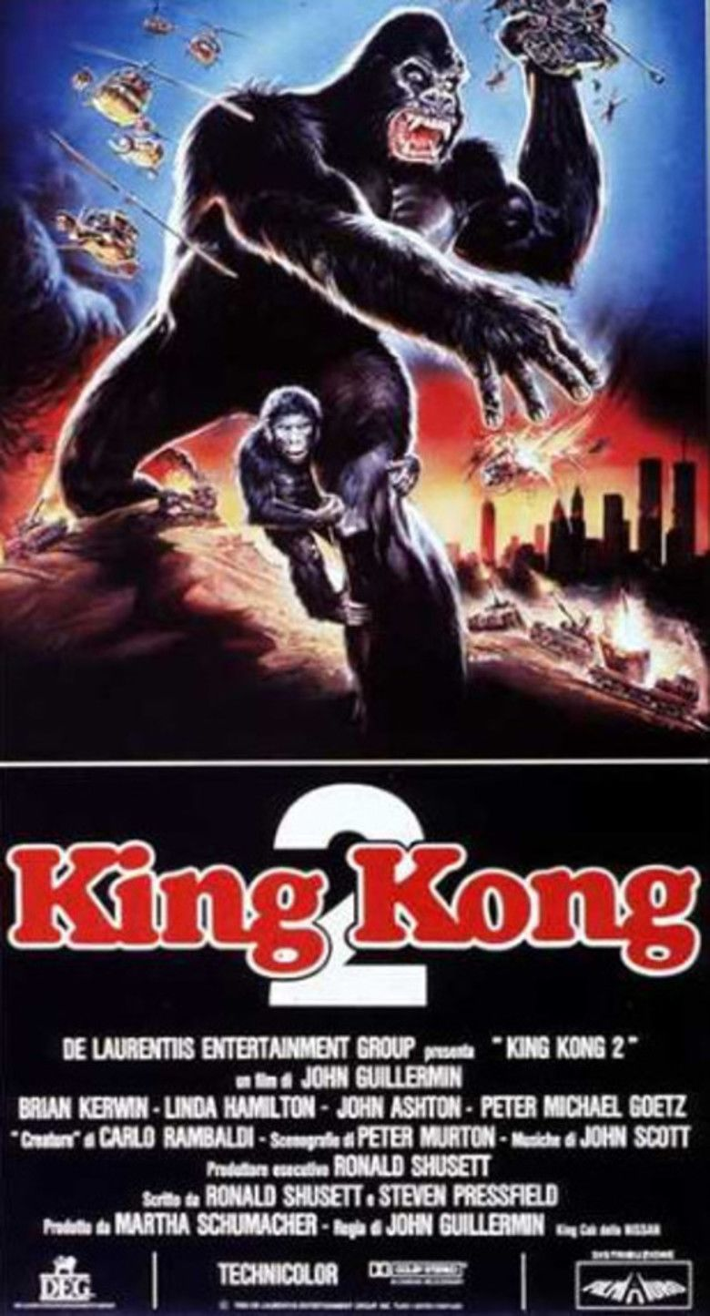 King Kong Lives movie poster