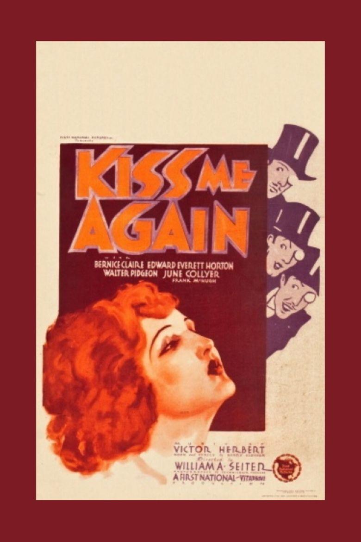 Kiss Me Again (1931 film) movie poster