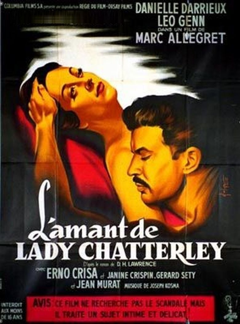 Lady Chatterleys Lover (1955 film) movie poster