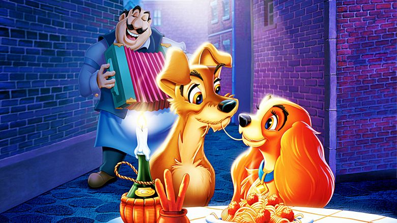 Lady and the Tramp movie scenes