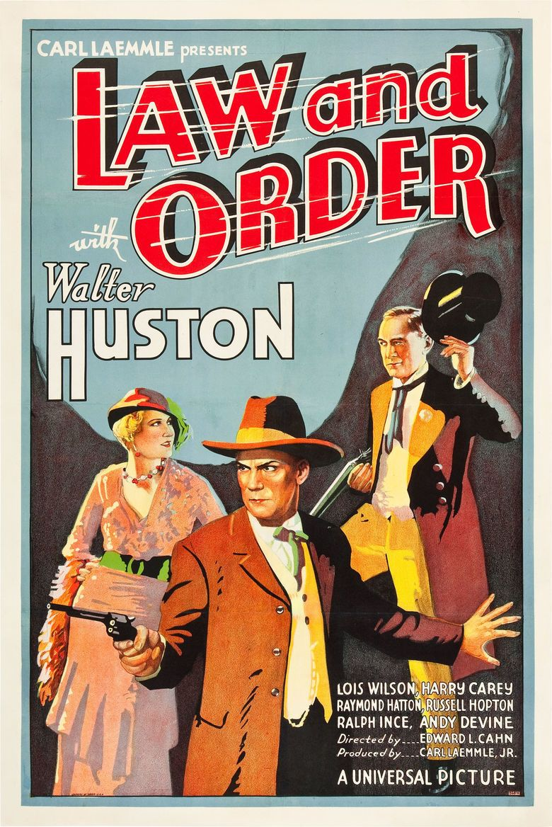 Law and Order (1932 film) movie poster