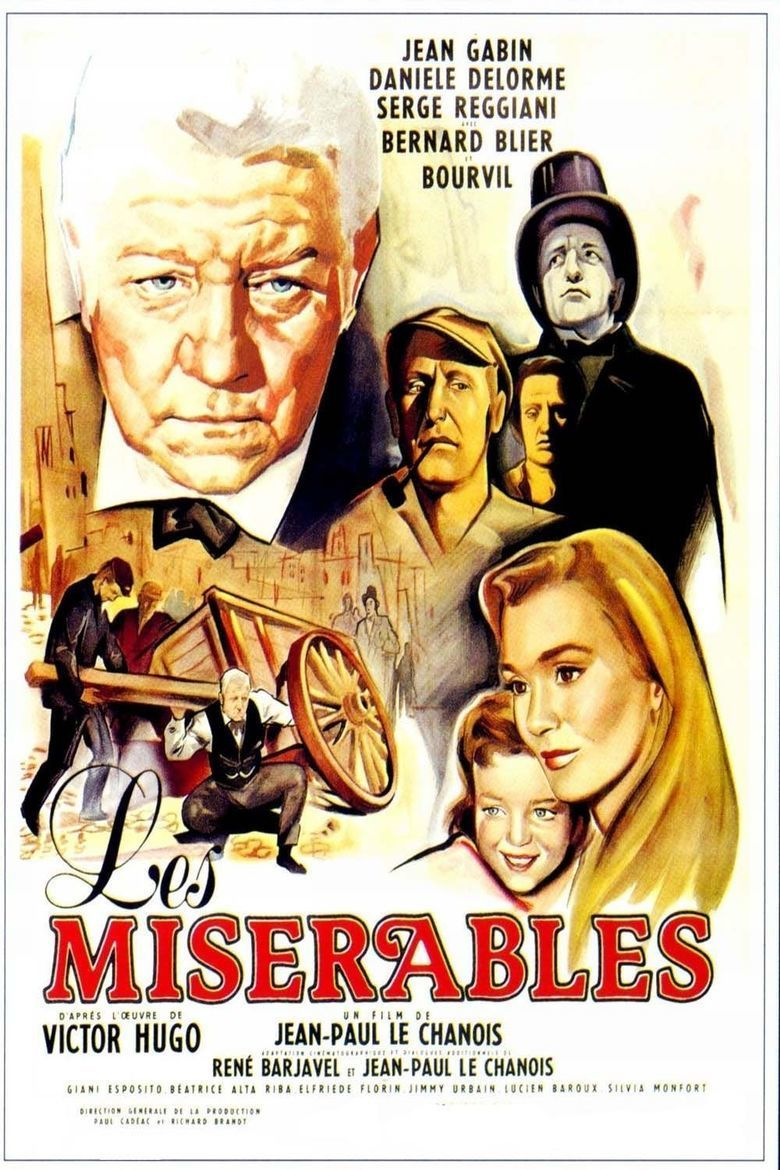 Les Miserables (1958 film) movie poster