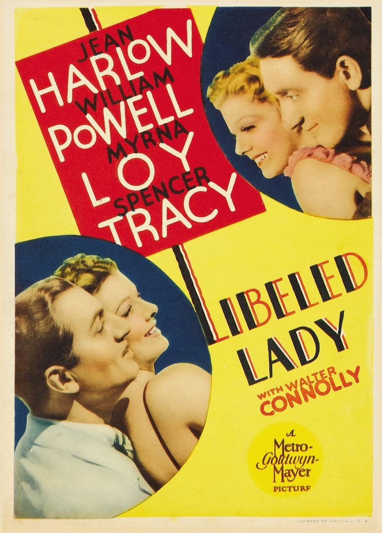 Libeled Lady movie poster