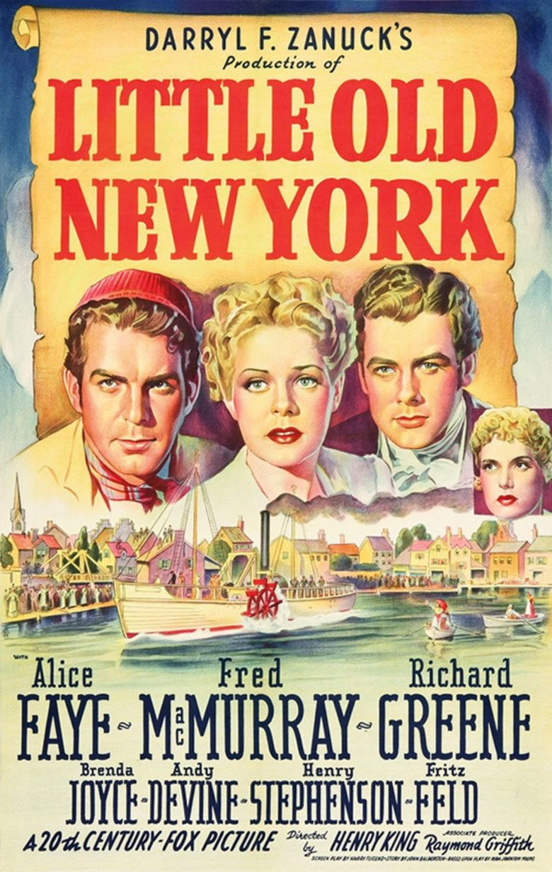 Little Old New York movie poster