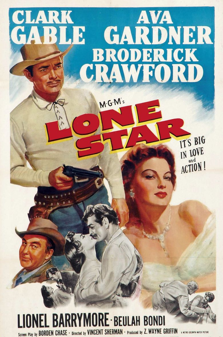 Lone Star (1952 film) movie poster