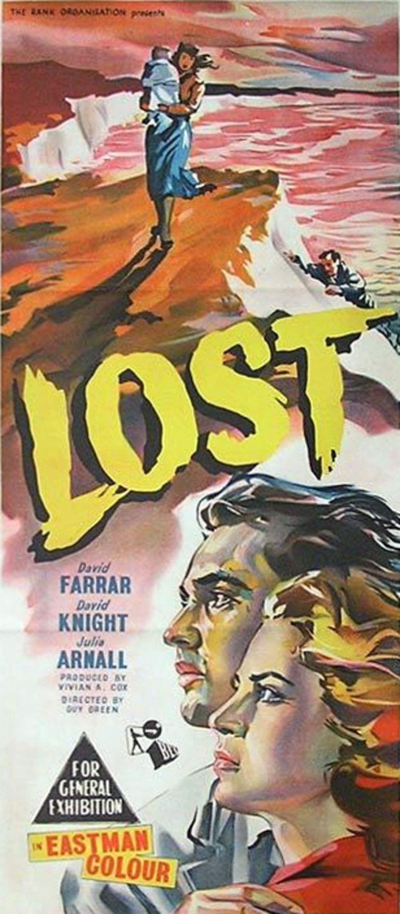 Lost (1956 film) movie poster