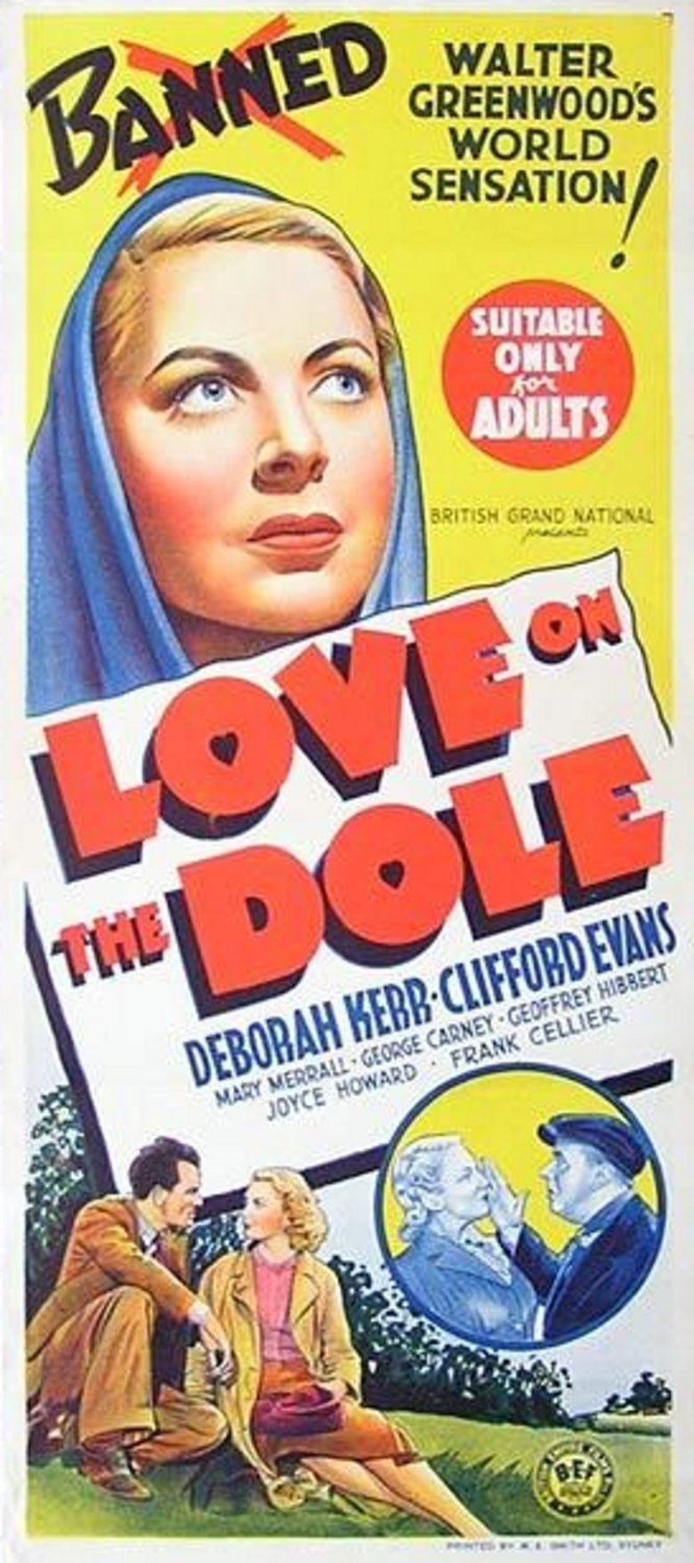 Love on the Dole (film) movie poster