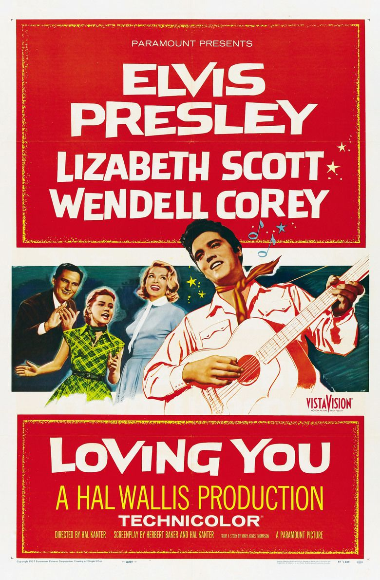 Loving You (1957 film) movie poster